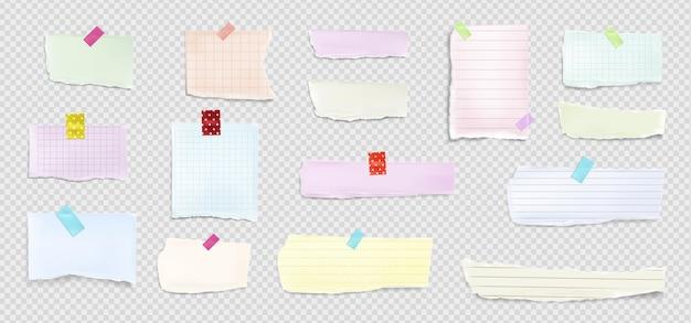 Realistische zerrissene papiersammlung