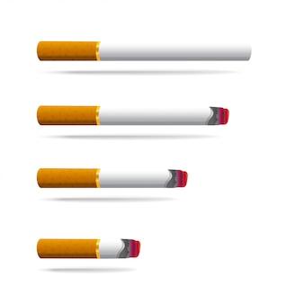 Realistische zigarettenrauchsymbol