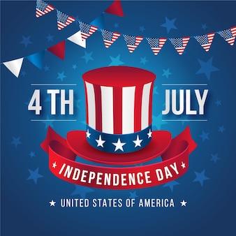 Realistischer 4. juli - unabhängigkeitstag