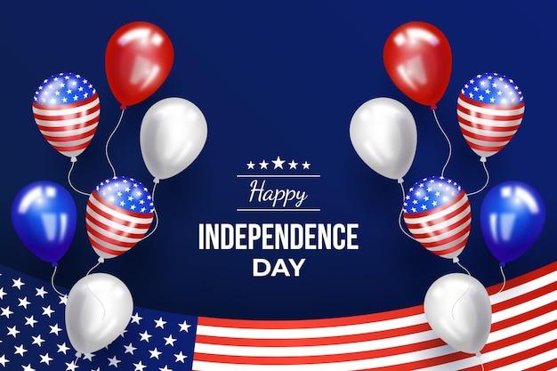 Realistischer 4. juli - unabhängigkeitstagballonhintergrund