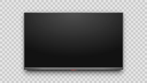 Realistischer 4k fernsehbildschirm