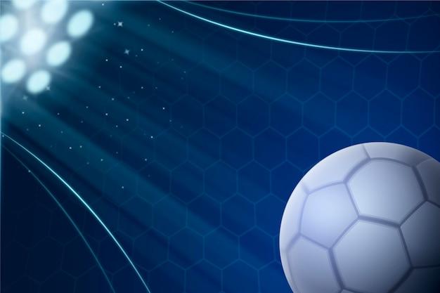 Realistischer abstrakter fußballhintergrund