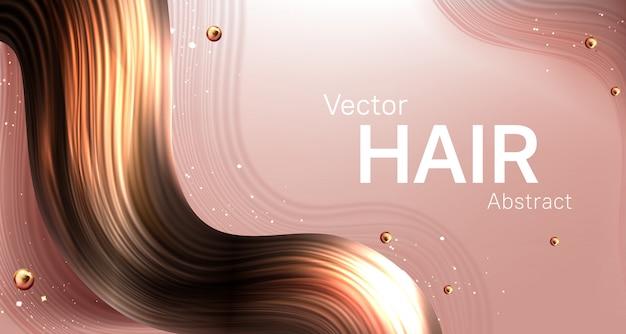 Realistischer abstrakter hintergrund der braunen haarsträhne