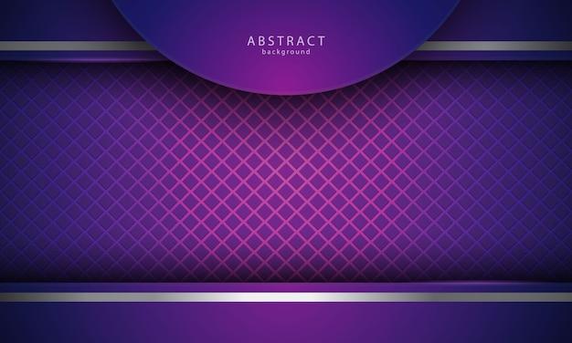 Realistischer abstrakter hintergrund mit silberner und violetter farbe