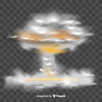 Realistischer atombombenraucheffekt