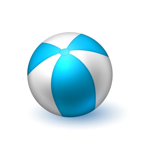 Realistischer aufblasbarer gestreifter strandball
