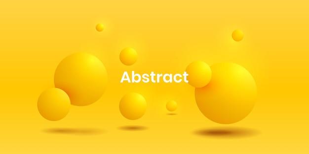 Realistischer backgorund des abstrakten fließenden lebendigen gradienten 3d des gelben kreises