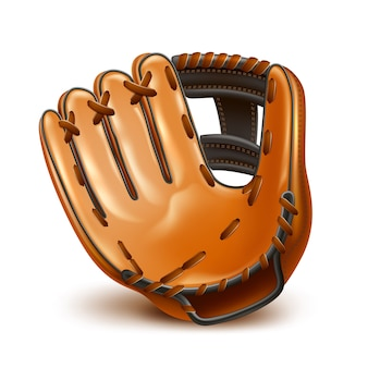 Realistischer baseball lederhandschuh
