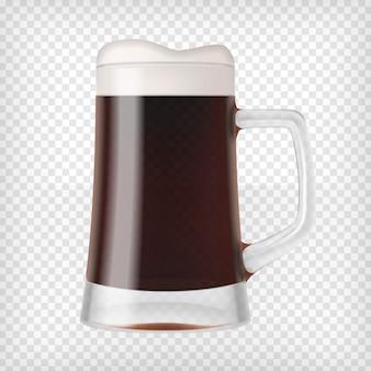 Realistischer becher mit bier