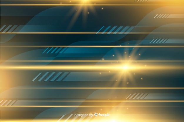 Realistischer bewegungshintergrund des glänzenden lichtes