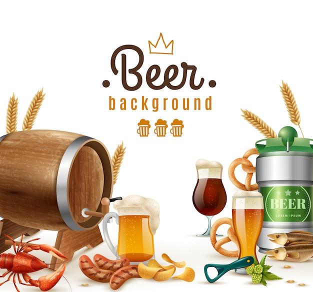Realistischer bierhintergrund