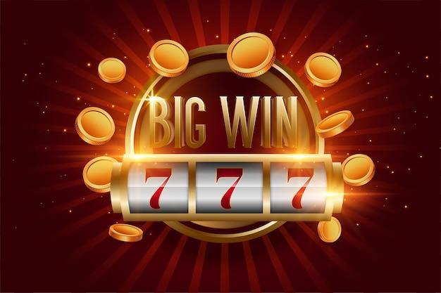 Realistischer big win slot mit goldenen münzen