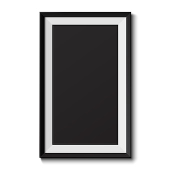 Realistischer bilderrahmen auf weißem hintergrund. perfekt für ihre präsentationen. illustration