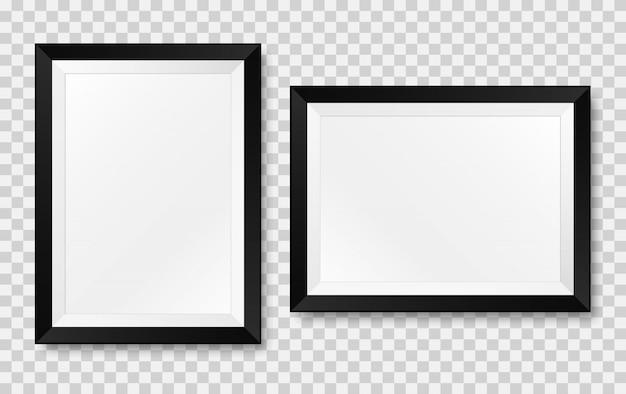 Realistischer bilderrahmen. vektor isoliert