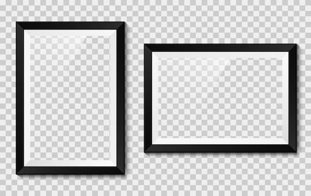Realistischer bilderrahmensatz