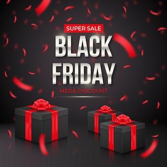 Realistischer black friday sale