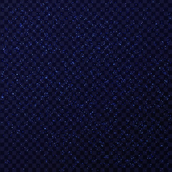 Realistischer blau funkelnder glitzersterneffekt auf dem transparenten hintergrund. realistisch leuchtendes licht zur dekoration.