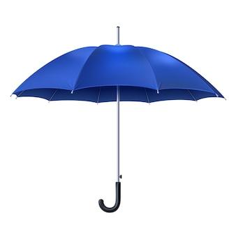 Realistischer blauer regenschirm
