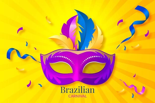 Realistischer brasilianischer karneval der maske