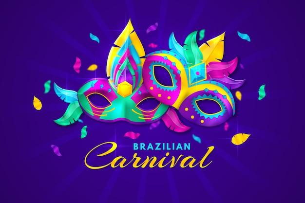 Realistischer brasilianischer karneval