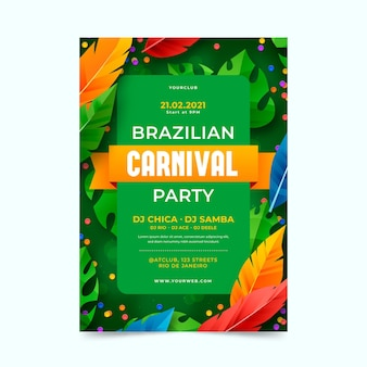 Realistischer brasilianischer karnevalsflieger