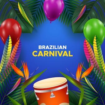 Realistischer brasilianischer karnevalshintergrund