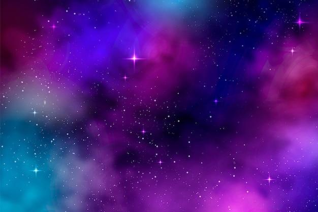 Realistischer bunter galaxienhintergrund