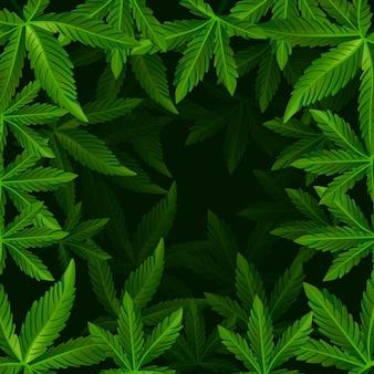 Realistischer cannabisblatthintergrund