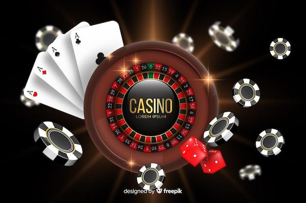 Realistischer casino-hintergrund
