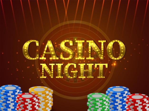 Realistischer casino-online-glücksspielhintergrund