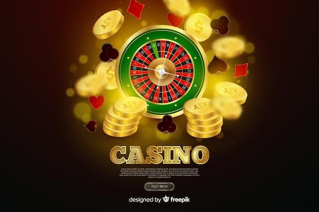 Realistischer casino-roulette-hintergrund