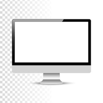Realistischer computer oder pc-monitor
