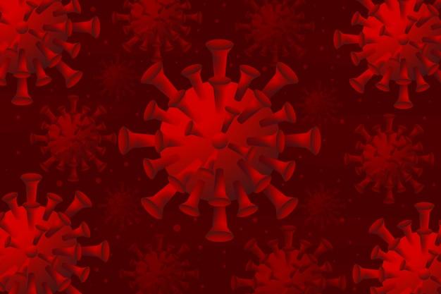 Realistischer coronavirus-hintergrund