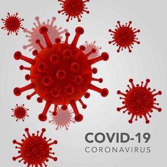 Realistischer covid-19-coronavirus-hintergrund