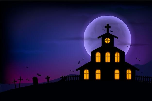 Realistischer design-halloween-hintergrund