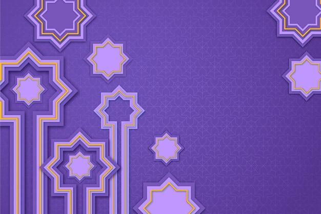 Realistischer dreidimensionaler arabischer zierhintergrund