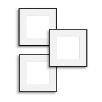 Realistischer dünner fotorahmen. illustration