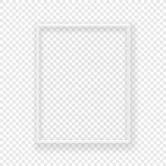 Realistischer dünner weißer bilderrahmen auf einer wand
