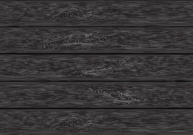 Realistischer dunkelgrauer hölzerner plankenmuster-hintergrundvektor.