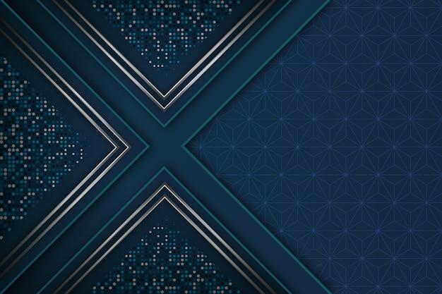 Realistischer eleganter geometrischer formhintergrund