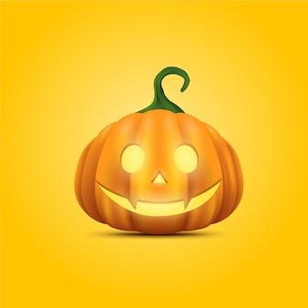 Realistischer entwurf des halloween-kürbises