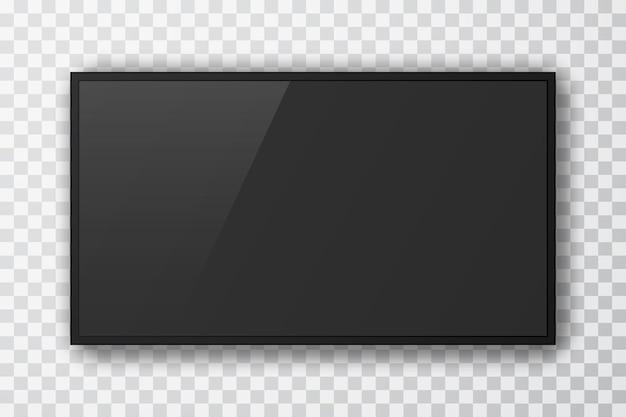Realistischer fernsehbildschirm. 3d-tv-led-monitor.