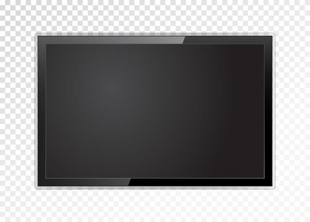 Realistischer fernsehbildschirm