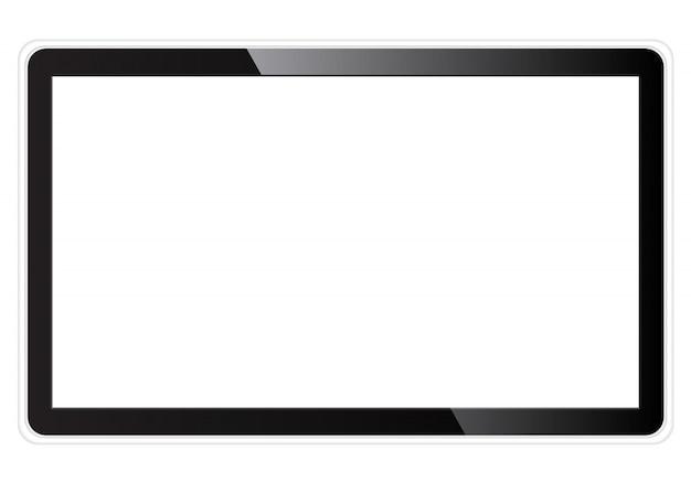 Realistischer fernsehleerer bildschirm