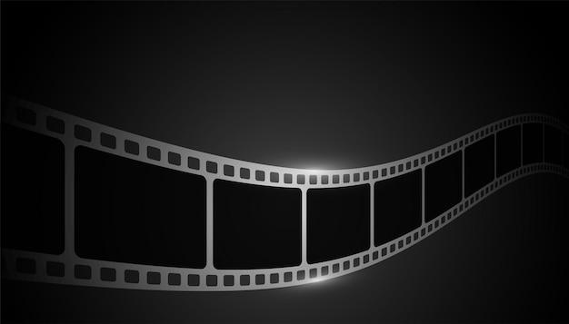 Realistischer filmstreifen auf schwarzem hintergrund