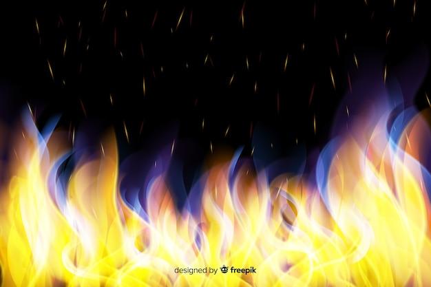 Realistischer flammenhintergrund