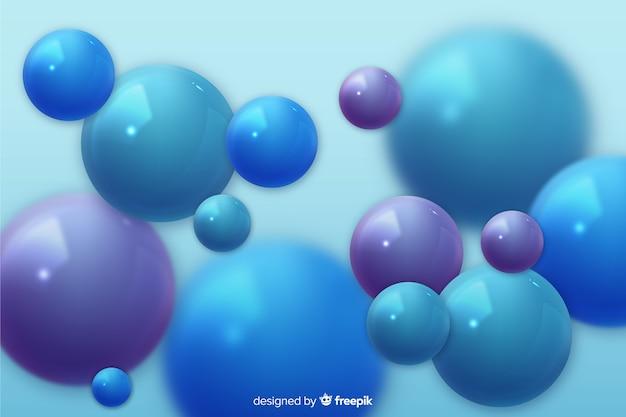 Realistischer flüssiger glatter ballhintergrund