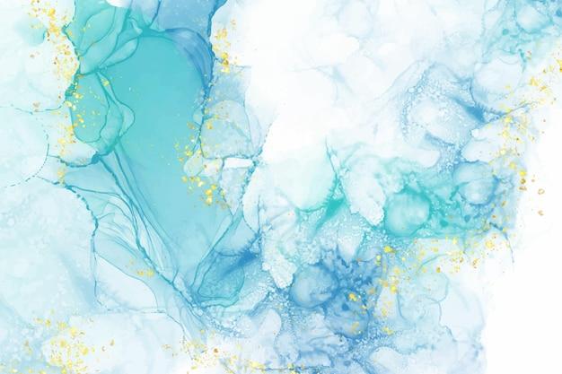 Realistischer flüssiger marmorhintergrund mit gold