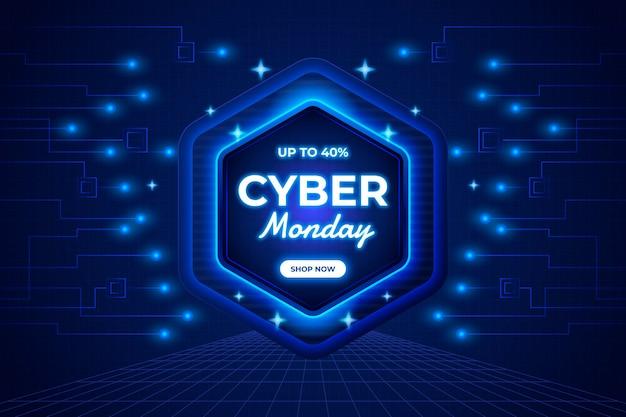 Realistischer futuristischer cyber-montag-hintergrund