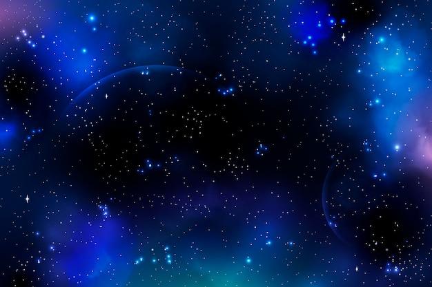 Realistischer galaxienhintergrund mit sternen
